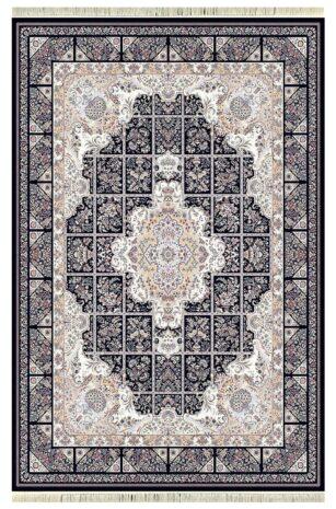 فرش 1200 شانه پنجاه رنگ مشهد اردهال کد 118 گل برجسته (هایبالک) پرکلاغی