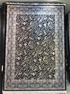 فرش 1200 شانه پنجاه رنگ مشهد اردهال کد 116 گل برجسته (هایبالک) پرکلاغی