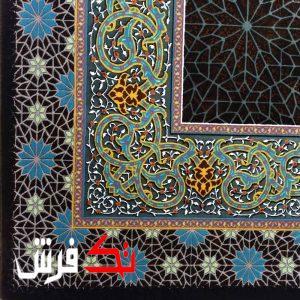فرش گل برجسته دیبا 1000 شانه طرح فلورنس زمینه فندقی