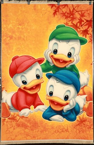 فرش کلاریس کلکسیون عروسکی طرح اردک ها