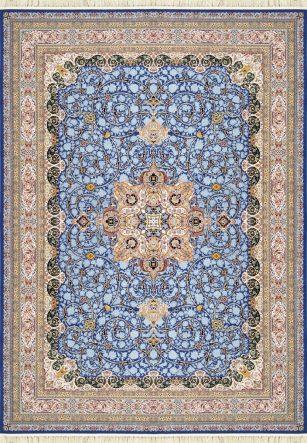 فرش 1200 شانه مهر و ماه کد 1263 گل برجسته (هایبالک) اطلسی
