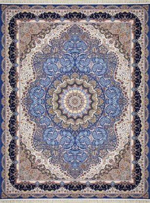 فرش 1200 شانه مهر و ماه کد 1271 گل برجسته (هایبالک) اطلسی