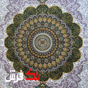 فرش گل برجسته دیبا 1000 شانه طرح آریا زمینه کرم