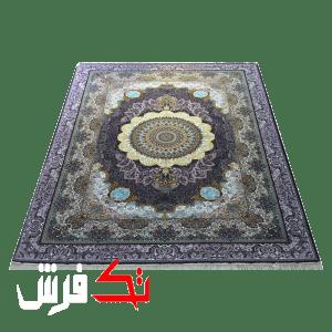 فرش گل برجسته دیبا 1000 شانه طرح آریا زمینه فندقی