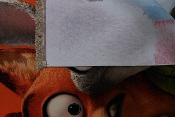 فرش کلاریس کلکسیون عروسکی طرح خرگوش و گرگ
