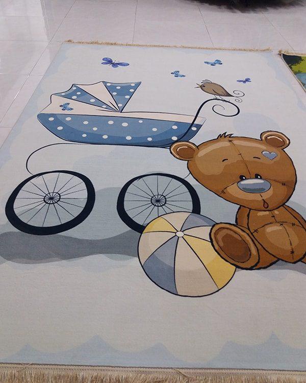 فرش کلاریس کلکسیون عروسکی طرح خرس