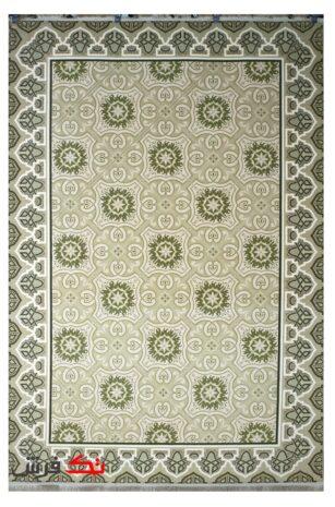 فرش ترکیه ای کلاریس کلکسیون مدرن کد 100506 زیتونی