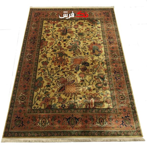 فرش ماشینی طرح دستباف نقشه کاشان کد 0004