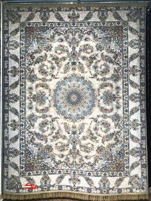 فرش محتشم 1000 شانه گل برجسته طرح اختر فیلی