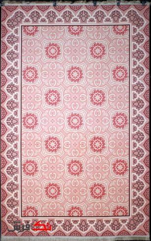 فرش ترکیه ای کلاریس کلکسیون مدرن کد 100506 صورتی