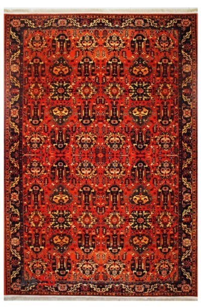 فرش ماشینی طرح دستباف نقشه بلوچ کد 0002