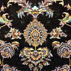 فرش گل برجسته دیبا 1000 شانه طرح شاه نشین زمینه فندقی