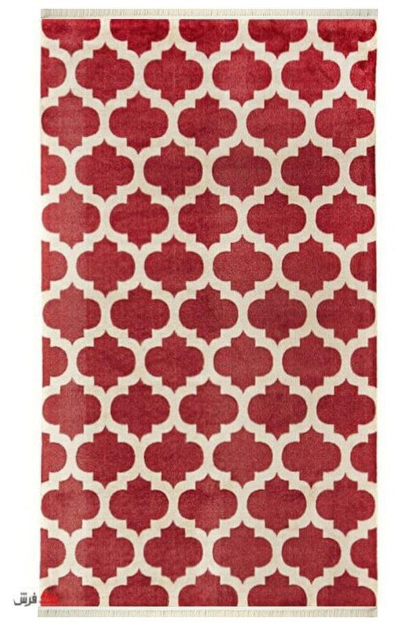 فرش کلاریس کلکسیون مدرن کد 1104 قرمز