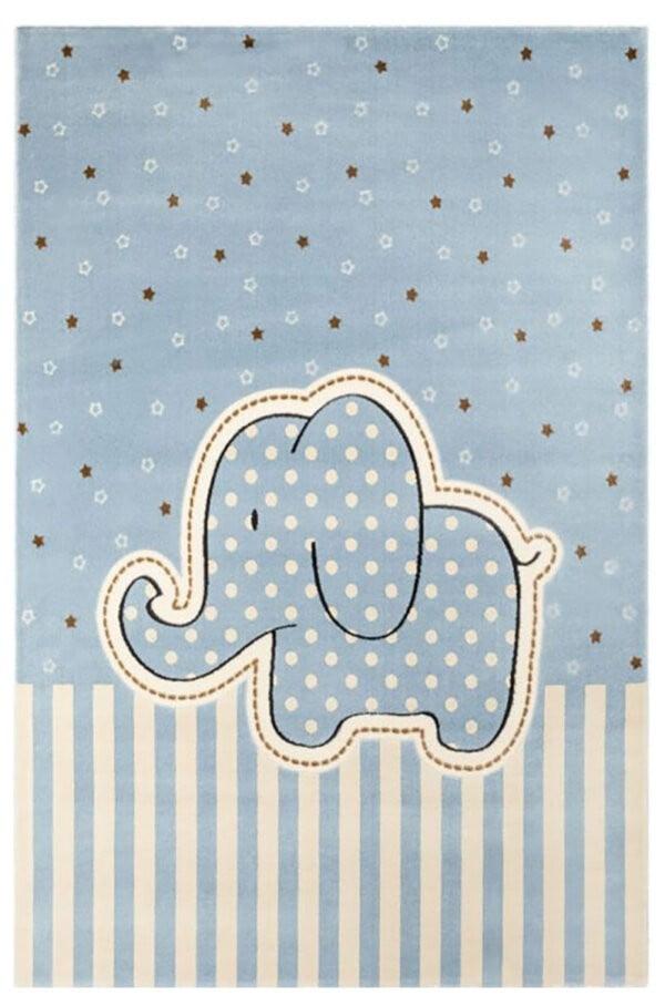فرش ماشینی اتاق کودک طرح خرس آبی کد 0017
