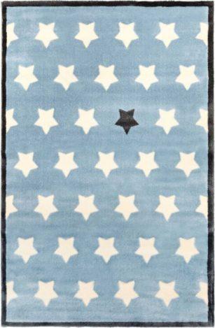 فرش ماشینی اتاق کودک طرح ستاره آبی کد 0014