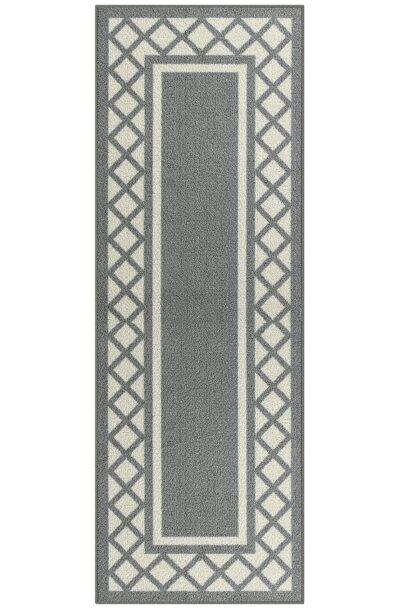 فرش ماشینی کناره طوسی کلکسیون فانتزی طرح QB2055 ( سایز دلخواه )