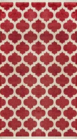 فرش فانتزی کلکسیون هارمونی کد 1104 قرمز