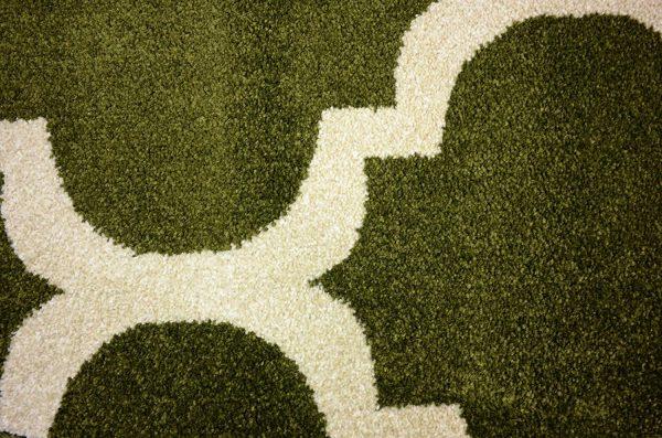 فرش ماشینی گرد کلکسیون فانتزی (مراکشی) کد 1000446 یشمی