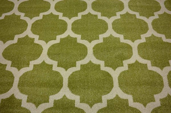 فرش ماشینی گرد کلکسیون فانتزی (مراکشی) کد 1000446 سبز