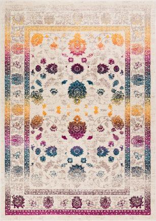 فرش ماشینی کلکسیون کهنه نما ( وینتیج ) کد Q00120 کرم