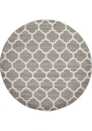 فرش ماشینی گرد کلکسیون فانتزی (مراکشی) کد 1000446 طوسی