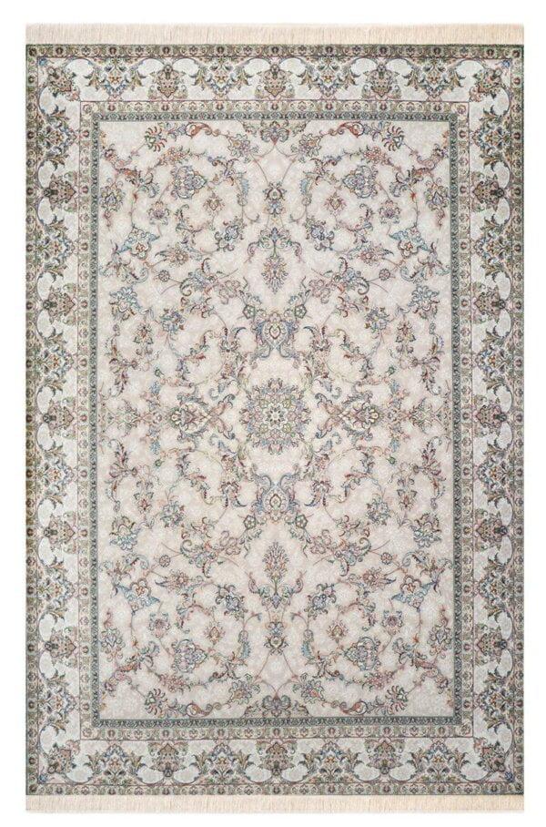 فرش ماشینی محتشم 1000 شانه تراکم 3000 گل برجسته طرح کیهان فیلی