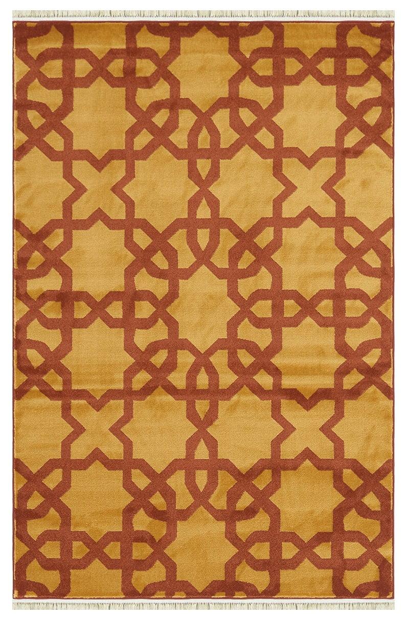 فرش فانتزی کلکسیون مدرن مراکشی کد 1140 زرد