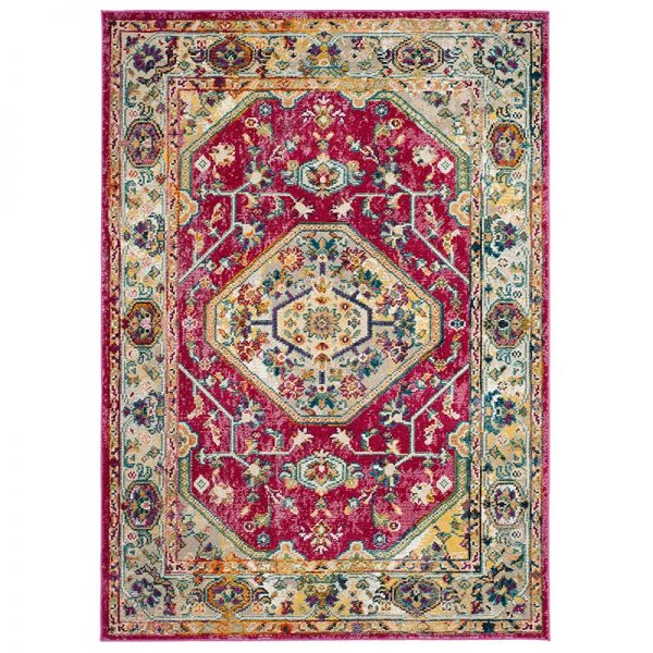 فرش ماشینی کلکسیون کهنه نما ( وینتیج ) کد Q00017 لاکی