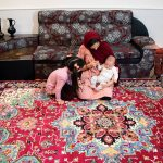 فرش ماشینی گبه عشایری طرح هریس لاکی