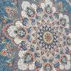 فرش طرح مریم اطلسی 700 شانه تراکم 2550 گل برجسته
