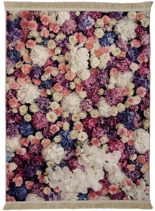 فرش فانتزی کلاریس کلکسیون مدرن کد 100445 چند رنگ