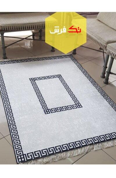 فرش فانتزی کلکسیون ورساچه کد V0010 رنگ سفید