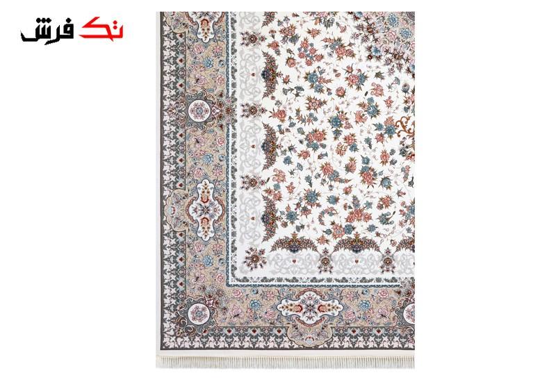 فرش طرح 1305 سفید