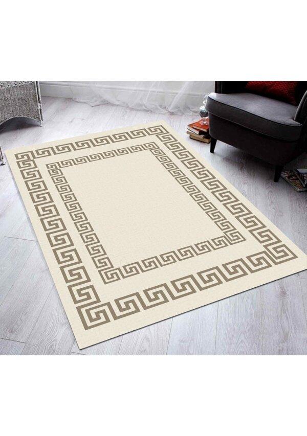 فرش فانتزی کلکسیون ورساچه کد V0013 رنگ کرم