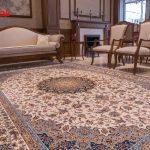 فرش طرح اصفهان کرم