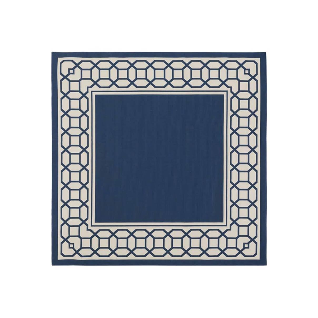 فرش ماشینی مربع کلکسیون فانتزی مدرن کد 1103 اطلسی