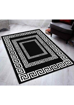 فرش فانتزی کلکسیون ورساچه کد V0011 رنگ سفید , مشکی