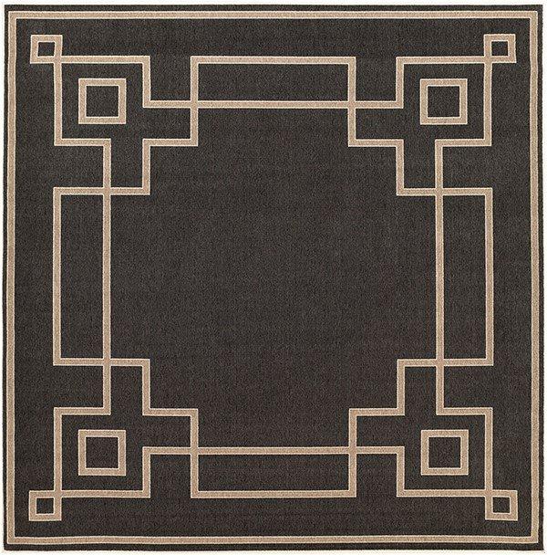 فرش ماشینی مربع کلکسیون فانتزی مدرن کد 1104 مشکی