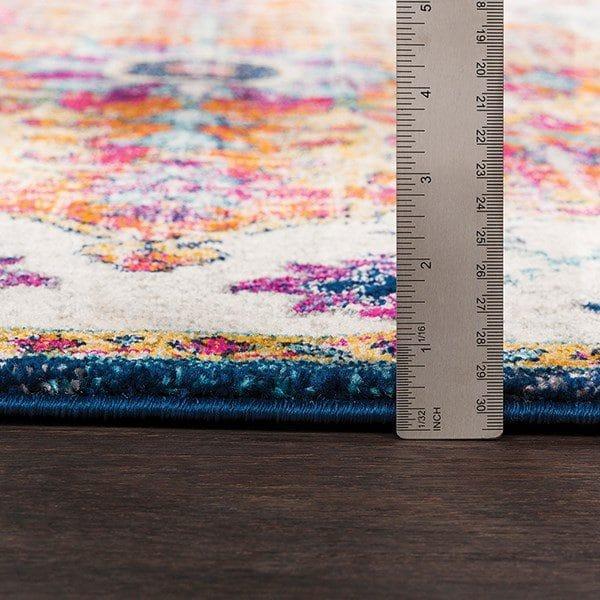 فرش ماشینی مربع کلکسیون کهنه نما کد 1102 نارنجی