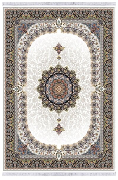 فرش طرح شمس کرم , 1000 شانه تراکم 3000