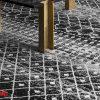 فرش کلاریس فانتزی کلکسیون مدرن طرح مراکشی کد 1108 مشکی