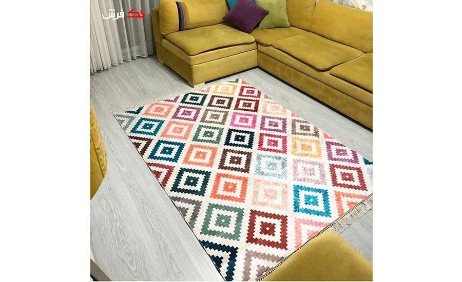 فرش فانتزی کلکسیون مراکشی کد 1107 چند رنگ