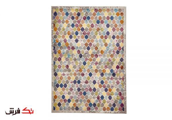 فرش ماشینی کلکسیون فانتزی طرح هارمونی کد 1113 چند رنگ