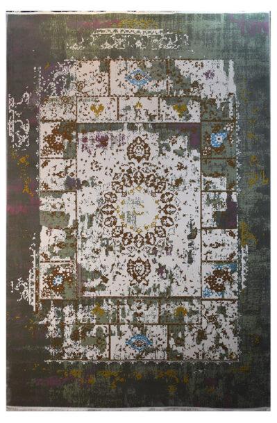 فرش ماشینی کلکسیون کهنه نما ( وینتیج ) کد 13-008-33 برجسته