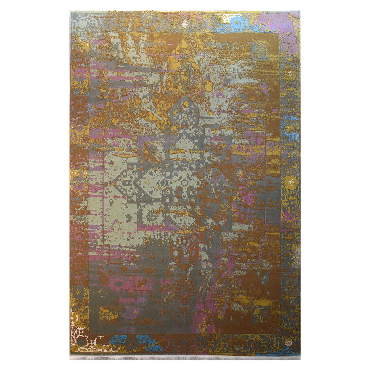 فرش ماشینی کلکسیون کهنه نما ( وینتیج ) کد 11-028-33 برجسته