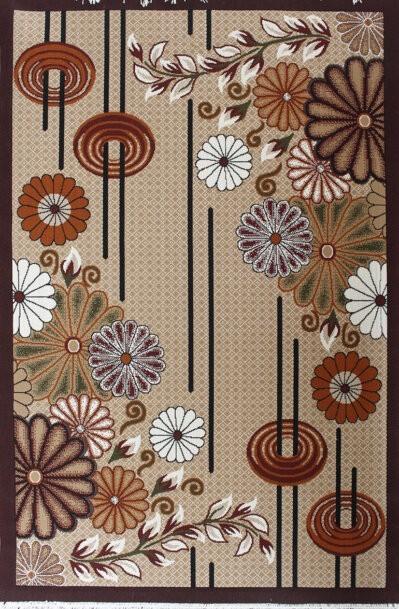 گلیم فرش فانتزی ماشینی طرح گل ها