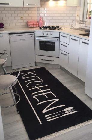 فرش ماشینی کناره کلکسیون آشپزخانه طرح QB2067