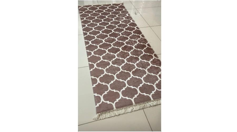 فرش ماشینی کناره قهوه ای کلکسیون ورساچه طرح QB2073 ( سایز دلخواه )