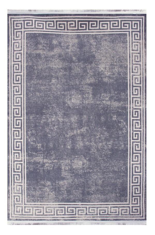 فرش فانتزی کلکسیون ورساچه رنگ طوسی , سفید 1.5*2 متری