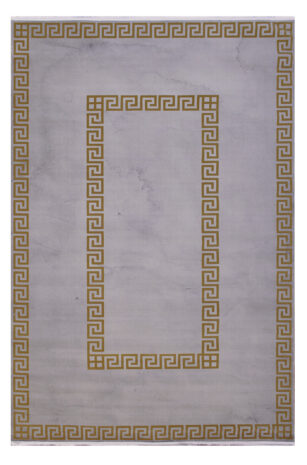 فرش فانتزی کلکسیون ورساچه رنگ کرم , طلایی 6 متری